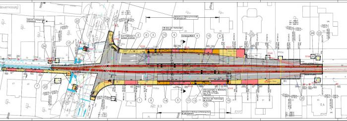 Plan Barrierefreier Ausbau Haltestelle Ludwigshöhstraße