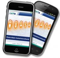 Smartphones mit rmv App