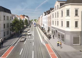 """Visualisieruing der neuen Haltestelle """"Bessunger Straße"""""""